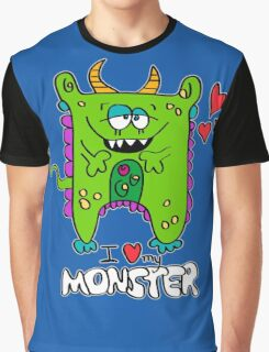 I Love My Monster Graphic T-Shirt