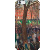 William Glackens - Parade, Washington Square iPhone Case/Skin