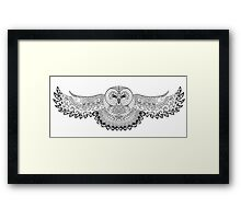 Owl with patterns, ornaments Framed Print