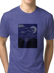 Night Sky on the Ocean Tri-blend T-Shirt