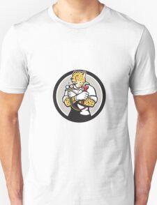Cheetah Heating Specialist Circle Cartoon T-Shirt