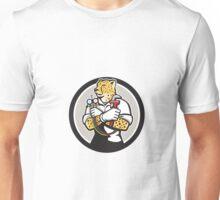 Cheetah Heating Specialist Circle Cartoon Unisex T-Shirt