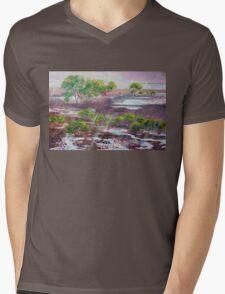 Mangroves in the rain ,Cleveland Bay Brisbane  Mens V-Neck T-Shirt
