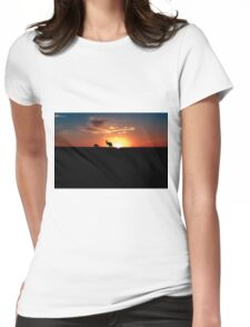 Kangaroos at Sunset Womens Fitted T-Shirt