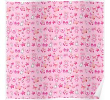 Sugar and Spice pink nursery patterns Poster
