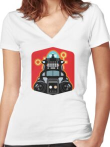 Robbie the Robot from Forbidden Planet Women's Fitted V-Neck T-Shirt