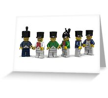 French Infantry Minifigs  Greeting Card