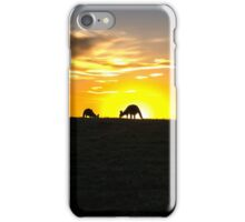 Silhouette of Kangaroos at  Sunset iPhone Case/Skin