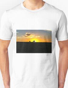 Silhouette of Kangaroos at  Sunset Unisex T-Shirt