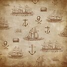 Vintage Expedition, A Collection of Ships by Tee Brain Creative