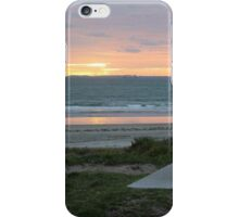 Early morning resting spot at Maunganui beach iPhone Case/Skin