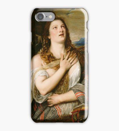 Tiziano Vecellio, Titian - The Penitent Magdalene  iPhone Case/Skin