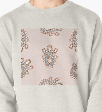 Jewelbox: Morganite Brooch in Light Blush Pullover