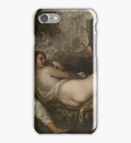 Tiziano Vecellio, Titian - Nymph and Shepherd  iPhone Case/Skin