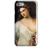 Tiziano Vecellio, Titian - Flora  iPhone Case/Skin