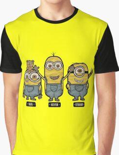 Minions Bob Kevin Stuart Graphic T-Shirt