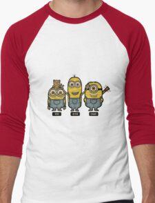 Minions Bob Kevin Stuart Men's Baseball ¾ T-Shirt