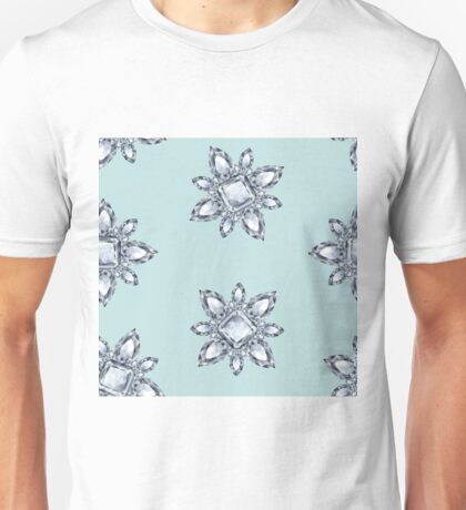 Jewelbox: Diamond Brooch Repeat in Eggshell Aqua Unisex T-Shirt