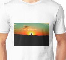 Lone Kangaroo at Sunset Unisex T-Shirt