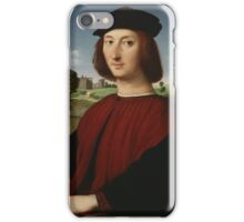 Raphael - Portrait of a Young Man in Red  iPhone Case/Skin