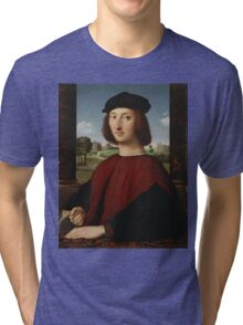 Raphael - Portrait of a Young Man in Red  Tri-blend T-Shirt