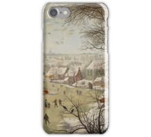 Pieter Brueghel the Younger - Winter Landscape with Bird-trap  iPhone Case/Skin