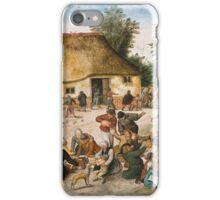 Pieter Brueghel the Younger - The Peasant Wedding iPhone Case/Skin