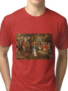 Pieter Brueghel the Younger - Peasant Wedding Feast  Tri-blend T-Shirt