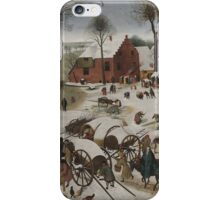 Pieter Brueghel the Younger - Census at Bethlehem . Landscape iPhone Case/Skin