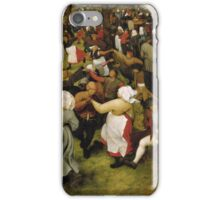 Pieter Bruegel the Elder - The Wedding Dance iPhone Case/Skin