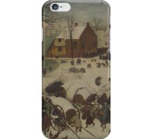 Pieter Bruegel the Elder - The Numbering at Bethlehem . Winter  Landscape iPhone Case/Skin