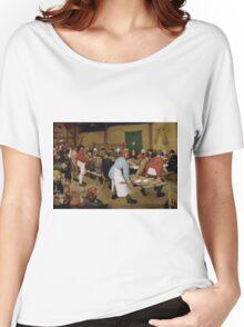 Pieter Bruegel the Elder - Peasant Wedding 1569 Women's Relaxed Fit T-Shirt