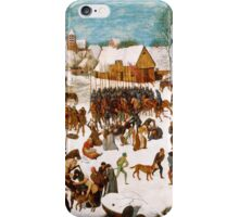 Pieter Bruegel the Elder - Massacre of the Innocents 1565 - 1567 iPhone Case/Skin