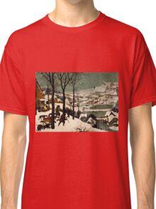 Pieter Bruegel the Elder - Hunters in the Snow Winter  Classic T-Shirt