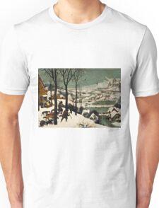 Pieter Bruegel the Elder - Hunters in the Snow Winter  Unisex T-Shirt