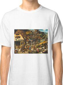 Pieter Bruegel the Elder - The Dutch Proverbs  Classic T-Shirt