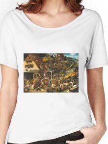 Pieter Bruegel the Elder - The Dutch Proverbs  Women's Relaxed Fit T-Shirt