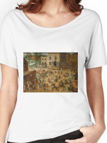 Pieter Bruegel the Elder - Children's Games  Women's Relaxed Fit T-Shirt