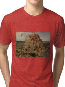 Pieter Bruegel the Elder  - The Tower of Babel  Tri-blend T-Shirt