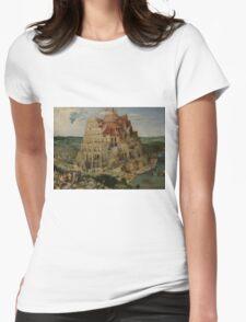 Pieter Bruegel the Elder  - The Tower of Babel  Womens Fitted T-Shirt