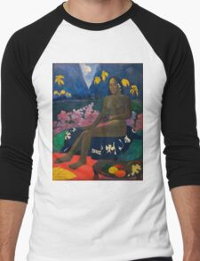 Paul Gauguin - The Seed of the Areoi  Men's Baseball ¾ T-Shirt