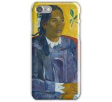 Paul Gauguin - Tahitian Woman with a Flower  iPhone Case/Skin