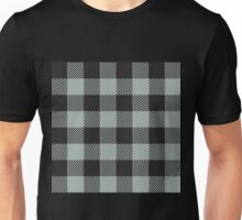 90's Buffalo Check Plaid in Greige and Black Unisex T-Shirt