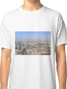 Photography of tall buildings, skyscrapers from Dubai seen from above. United Arab Emirates. Classic T-Shirt