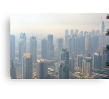 Photography of tall buildings, skyscrapers from Dubai. United Arab Emirates. Canvas Print