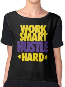 Work Smart Hustle Hard- Lakers Chiffon Top