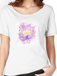 Lotus Flower Watercolor 4 Women's Relaxed Fit T-Shirt