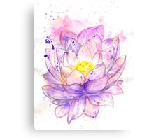 Lotus Flower Watercolor 4 Canvas Print