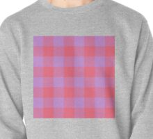 90's Buffalo Check Plaid in Hot Coral and Electric Lilac Pullover