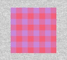 90's Buffalo Check Plaid in Hot Coral and Electric Lilac Unisex T-Shirt
